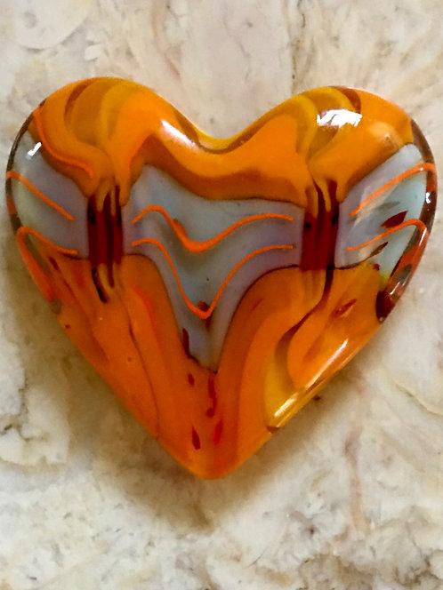 Blue, Orange and Yellow Heart