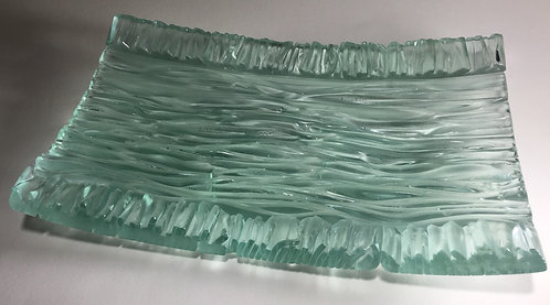 Green Tinted Wave Rectangle