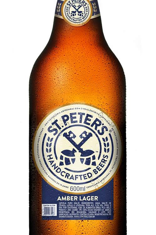 Cerveja St. Peters Amber Lager 600ml