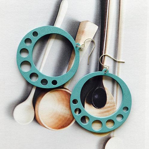 Inner Circle Wood Earrings