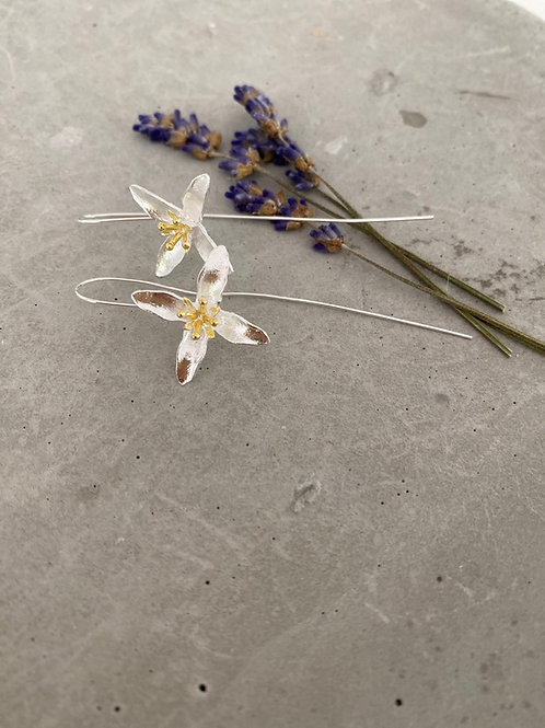 Copy of Iris casted sterling silver earrings