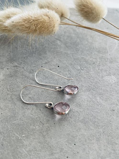 ARTISAN droplet earrings - pink