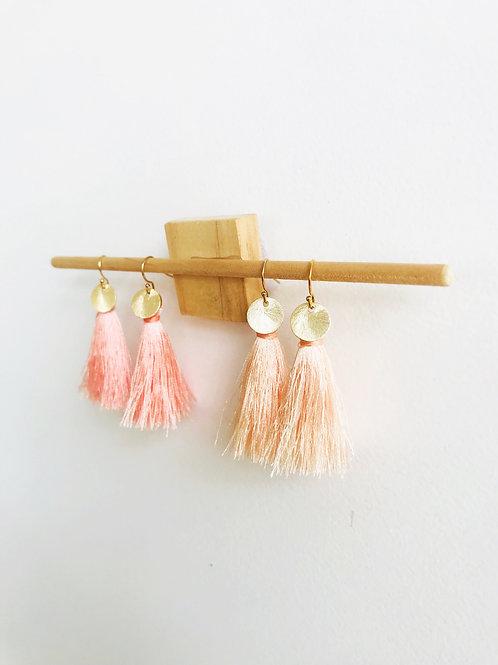 Disc Tassel Earrings