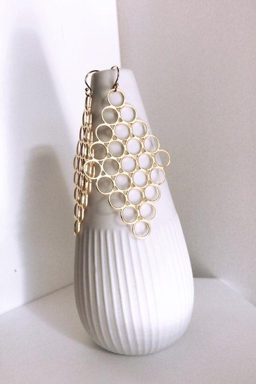 Honey comb earrings