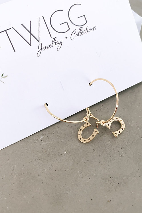 Create your own luck Horse Shoe Earrings