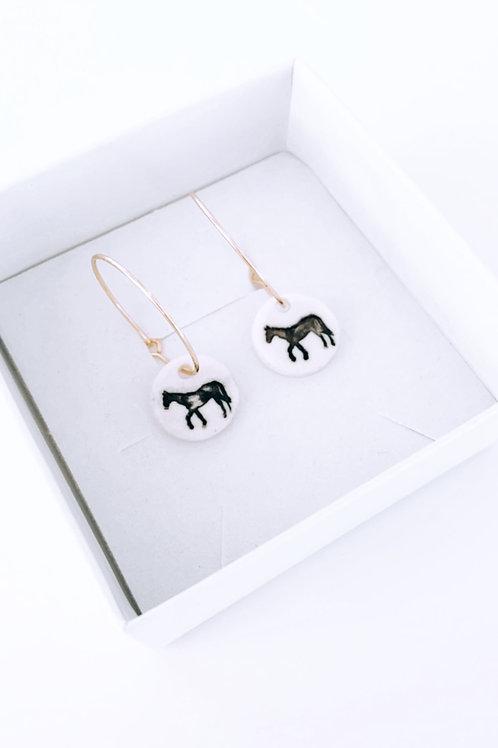 HOY porcelain earrings