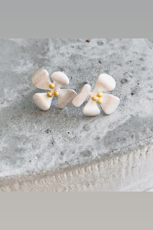 Magnolia sterling silver studs