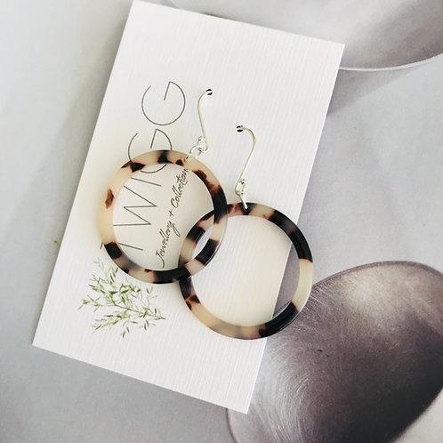 Infinity tortoiseshell earrings