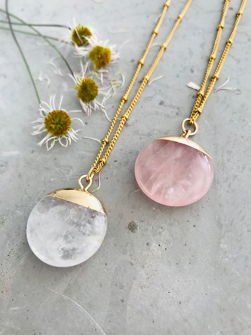 Quartz eclipse necklace