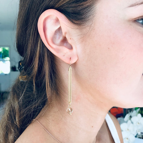 jayne Rod amber drop earrings