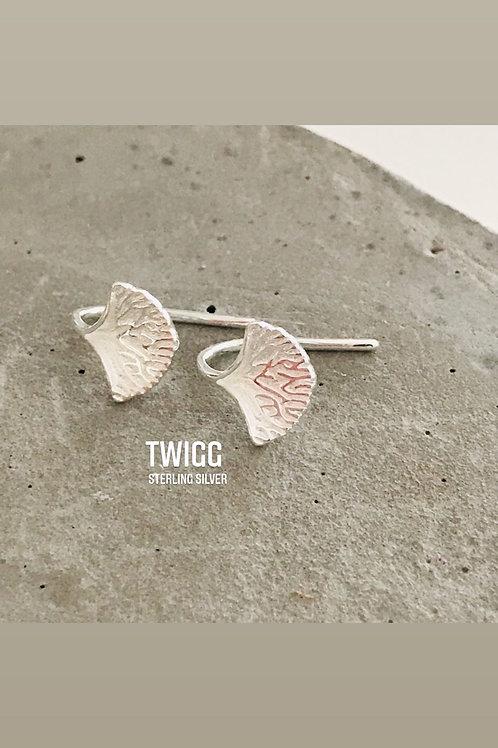 Ginkgo sterling silver drop earrings