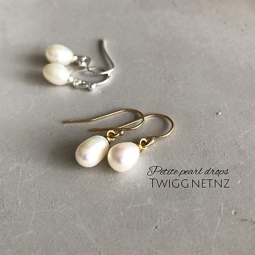 Grace petite earrings - silver