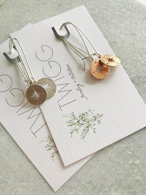 NESW long line earrings