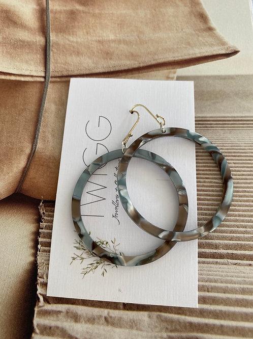 Infinity hoop earrings  FOG