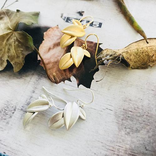 Fallen Leaf - silver or Gold