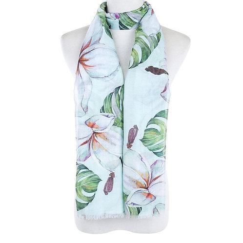 Flora scarf - green