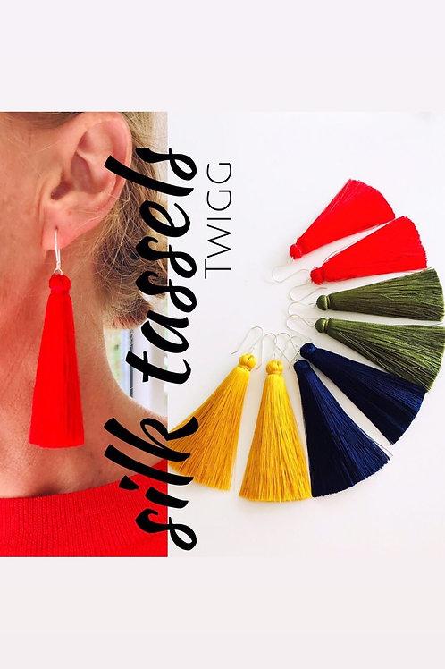 Silk thread tassel - large