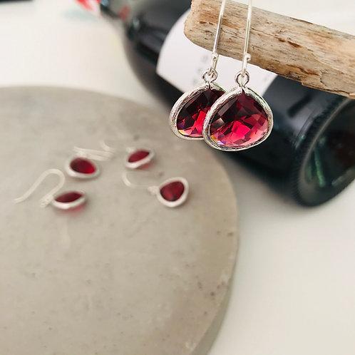 Audrey merlot drop earrings