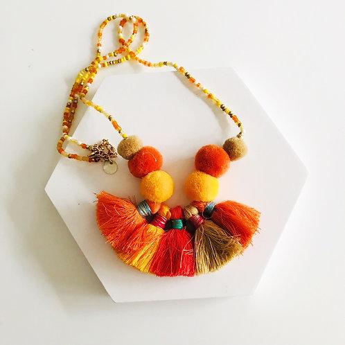 Mardi tassel necklace