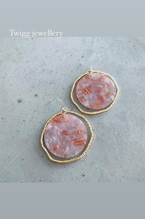 CAMELOT blush earrings