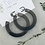 Thumbnail: Resin hoop stud earrings - 3 colours