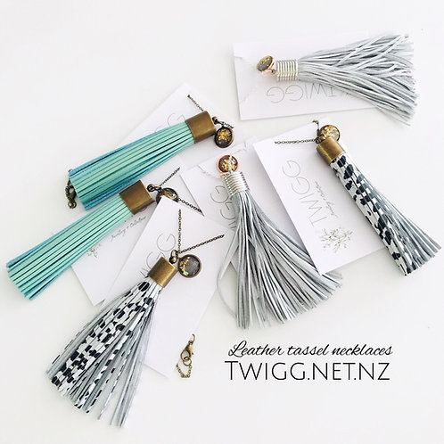 Long Line leather Tassel (wholesale)