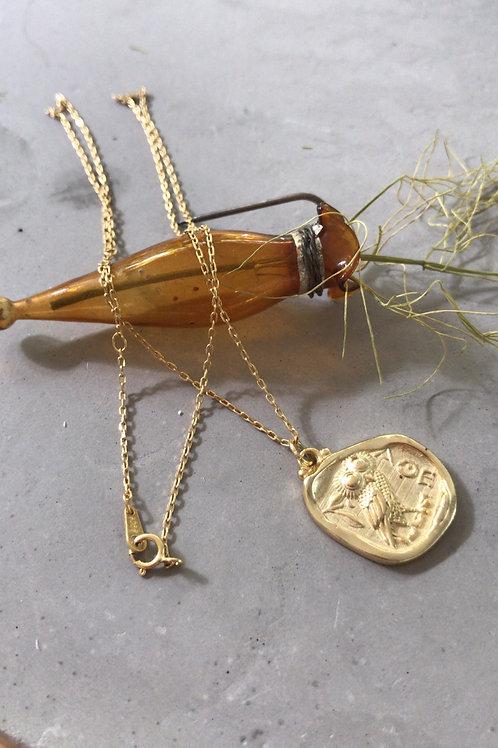 Matte gold vibe pendant necklace