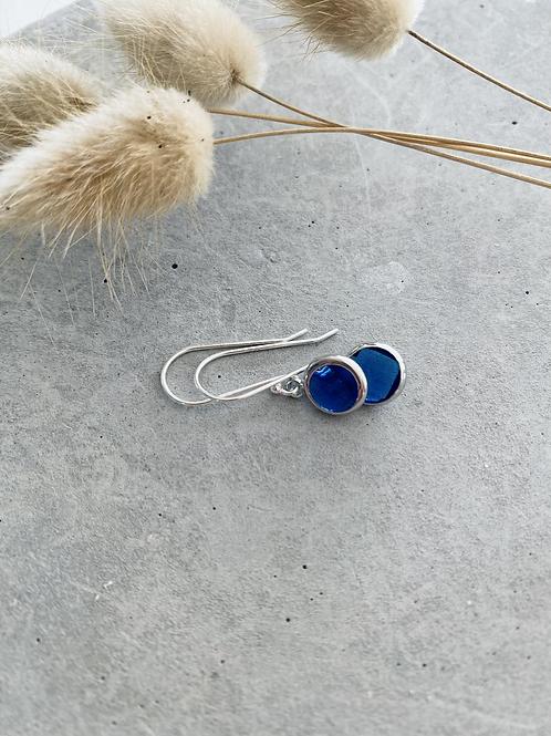 ARTISAN droplet earrings - blue
