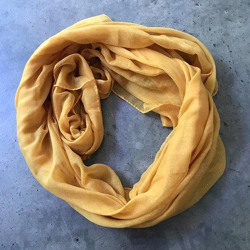 Mustard spec scarf