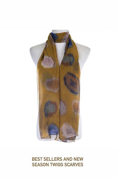 Georgia mustard scarf