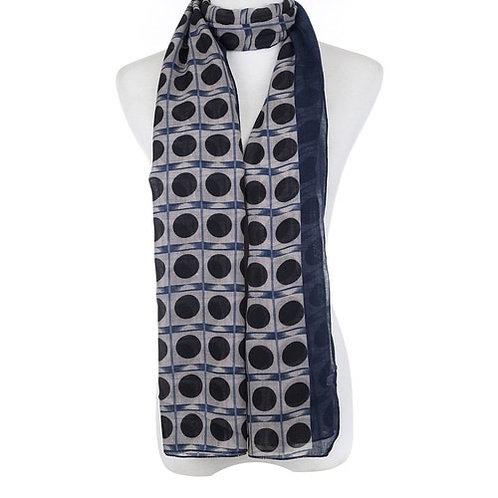 Navy Milan scarf