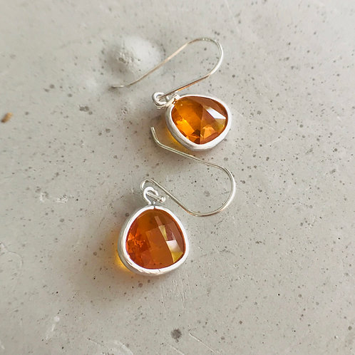Audrey orange earrings