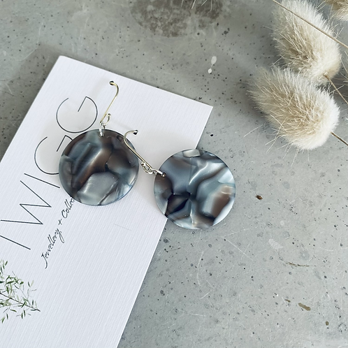 acrylic  Disc earrings - FOG