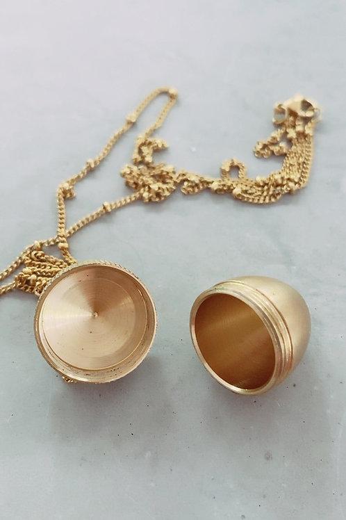 Acorn pendant keepsake necklace