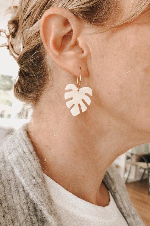 Monstera acrylic earrings