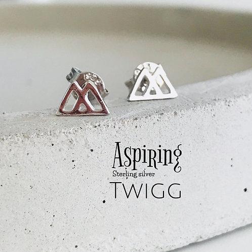 Mt Aspiring Studs - Sterling Silver