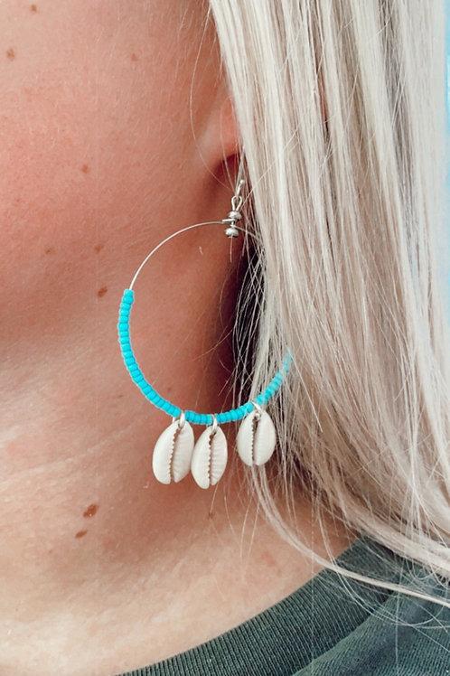 Coastal shell earrings