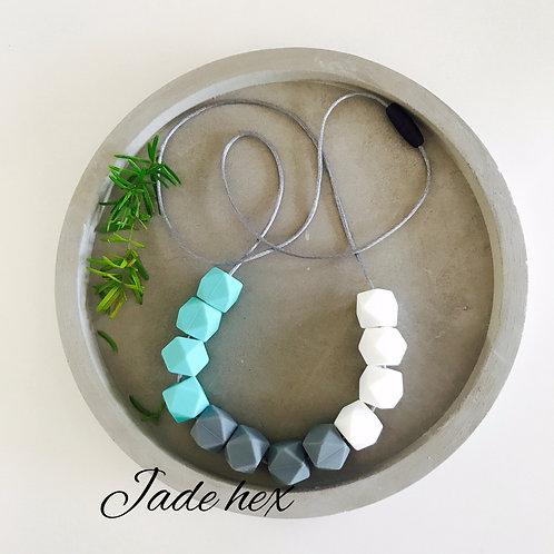 Jade Hex Silicone Necklace