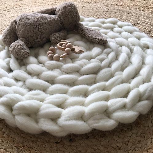 Baby Chunky knit floor rug