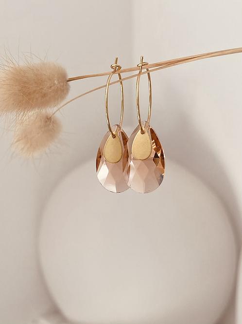 Austrian Crystal tear earrings