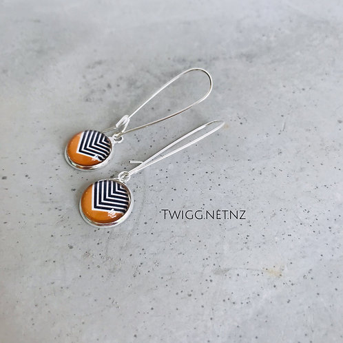 Dazzle glass dome earrings