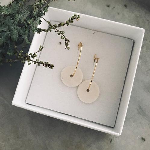 matte Saucer porcelain earrings