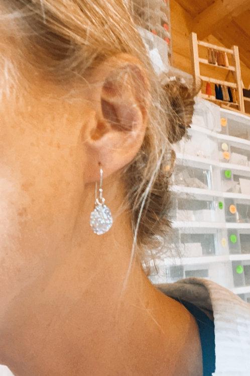 Resin sparkle drop earrings