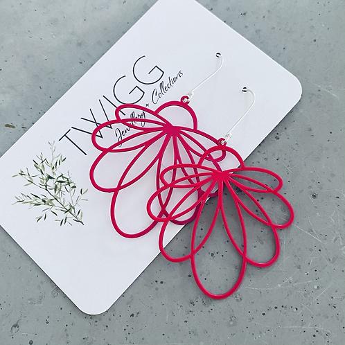 STELLA Scribble drop earrings - blush