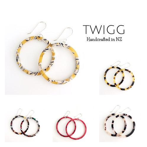 0174 tortoiseshell earrings