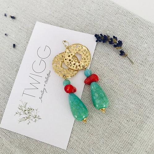 Scarob drop earrings