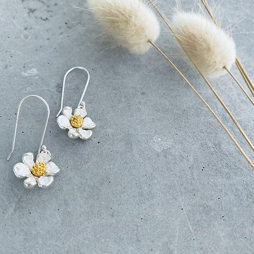 Aster flower earrings - hook