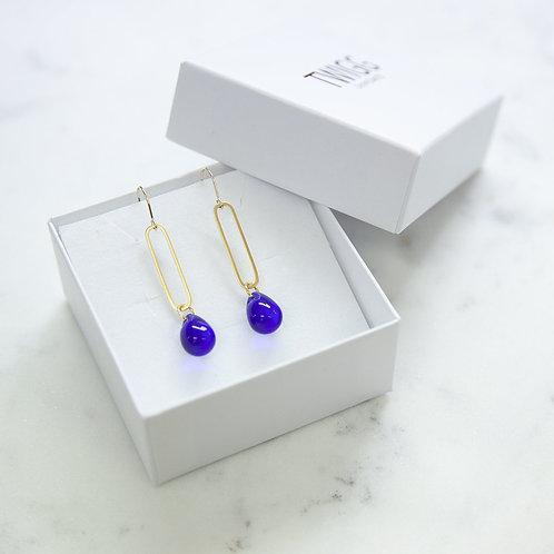 Water droplet sea-glass earrings