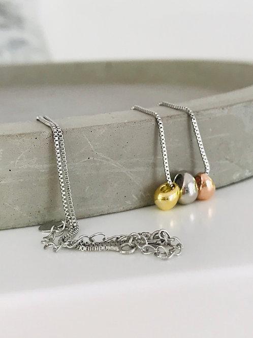 Tear droplet necklace