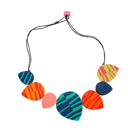 Resin brights necklace -tear